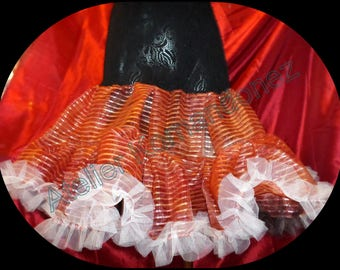 vintage red, black and white petticoat