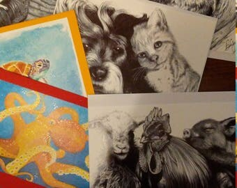 Greeting cards pkg of 6