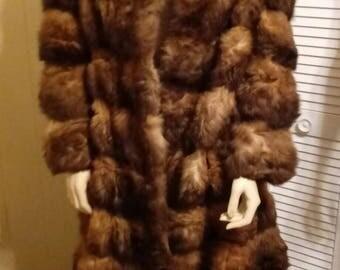 Vintage- 1950's- Schlampp's New Zealand possum fur- double length- coat.