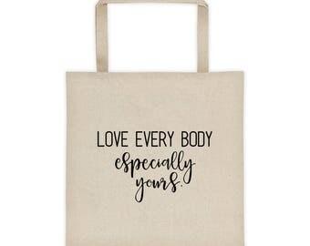 Body Positive Tote Bag | love yourself | feminist gift | equal rights | gift feminist | feminism gift | tote bag | market bag | zero waste