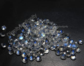 Natural Rainbow Moonstone 3MM Faceted Round - 1 To 10 Pieces - 3MM Faceted Round Rainbow Moonstone