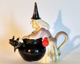 Witch and Cauldron Teapot
