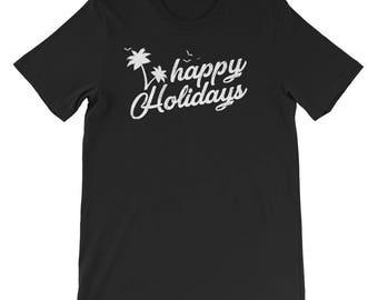 Happy Holidays Christmas 2017 Short-Sleeve Unisex T-Shirt