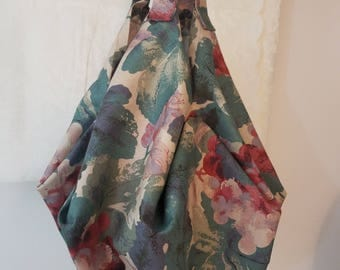 Fabric Shoulder Bag, Cotton Tote Bag, Sophisticated Print and Colors