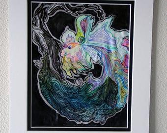 Dragon-- multimedia painting