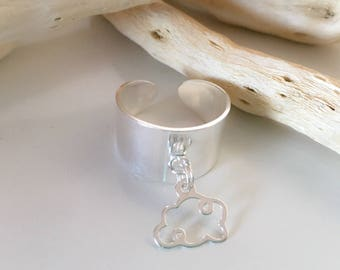 Ring 925 sterling silver cloud