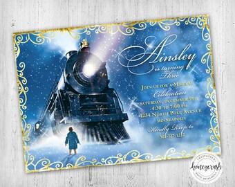 Polar Express Birthday Invitation - Printable Digital File