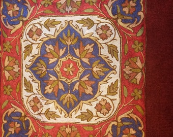 handmade embroidered silk cousin cover