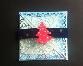Card - envelope, handmade, gift for a ticket or a check