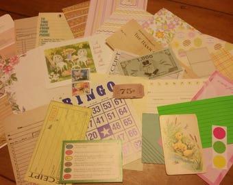 Easter Ephemera  Paper Pack / 30+ Pieces / Vintage & New / Collage pack/Paper ephemera lot/ junk journal pack / pen pal lot