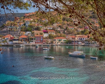 Printed canvas,photo of Kefalonia island,Greece