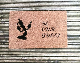Be Our Guest Beauty and the Beast Doormat
