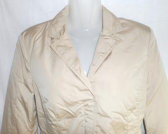 Moncler Auth.Fashionable Women's Goose Down wind Jacket,Sz 1,Beige