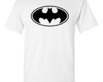 Batman Black Logo White T-Shirt