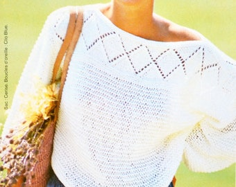 Cut-out for Lady tutorial white sweater knit