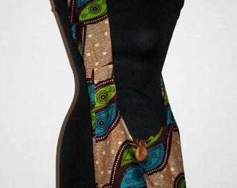 African Wax print shoulder bag.