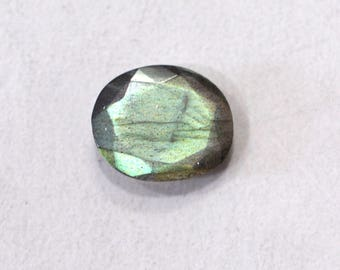 Labradorite Natural Labradorite Rose Cut Polki Both Side Faceted 3.25 cts 10.5x12.5 mm For Designer Jewelry 3936