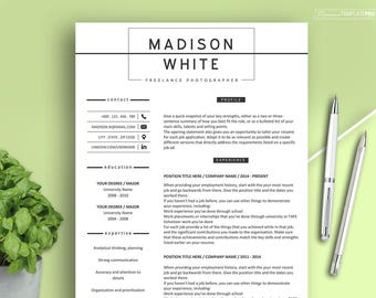 Resume 3 pages, Resume Template, Resume Template Word, Modern Resume for Any Professions, Instant Download Resume
