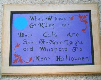 Near Halloween sign