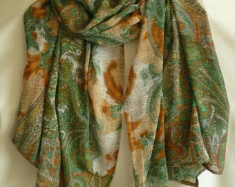 Large printed floral Paisley scarf