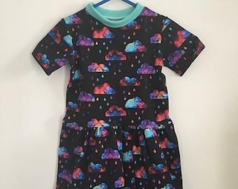 Jersey dress, baby dress, girls dress, toddler dress, play dress, hooded dress, kids dress, jersey dress, comfy dress, everyday dress