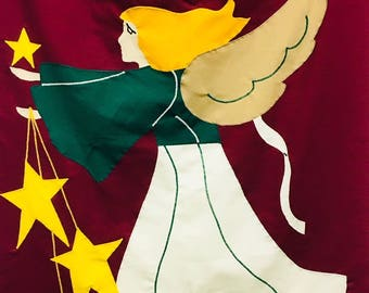 Decorative Flag: Angel with Stars