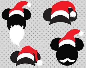 Disney Christmas SVG, Christmas svg, Disney santa Svg, Mickey santa svg, Santa svg, Santa hat svg, Disney Christmas cricut, Mickey svg