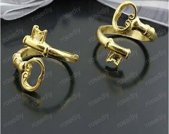 5 charm Keyring, ring, gold F27179 22MM