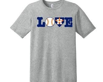 Houston Astros Love Shirt, Astros Ladies Shirt, Astros Baseball Shirt, Astros Love Baseball, Houston Astros, Stros Shirt, Custom Astros