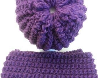 Knitting wool scarf handmade, knitted scarf with HAT,with beautiful  wool, winter scarf,Free Shipping