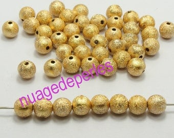30 color metallic spacer stardust beads 4mm gold