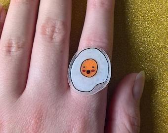 Kawaii Fryed/Fried Egg Ring, Kawaii Ring, Egg Ring, Cute Ring,