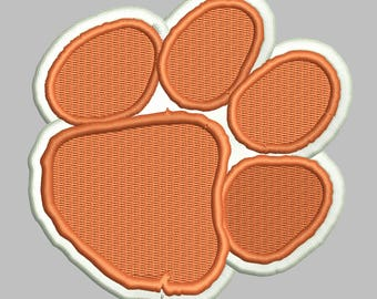 Clemson Tigers Embroidery Design 5 Sizes 8 Formats