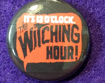 "The Witching Hour Comics logo 1"" pinback button"