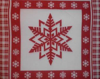 161-napkin snowflake 40 x 40 cm