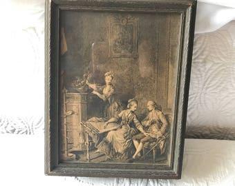 Victorian frame jewelry box/keepsake box