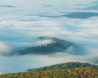 landscape photography. Blue Ridge Mountains. Fall. Clouds. Boone. Fine art.