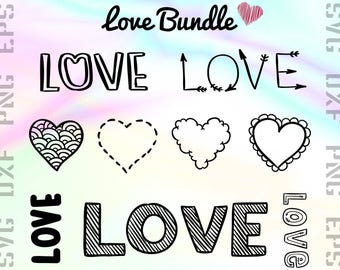 Love SVG Files - Love Dxf Files - Love Word Clipart - Love Word Cricut Files - Love Cut Files - Love Png Files - Svg, Dxf, Png, Eps Vectors