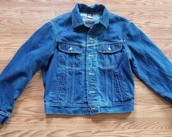 Lee Vintage 80's Denim Jacket Made in USA 42R