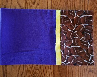 Flannel Pillowcase- Football