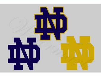 College Football SVG and Studio 3 Cut File Cutouts Files Logo Stencil for Silhouette Logos Cricut Decal SVGS Stencils Decals Team Notre Dame