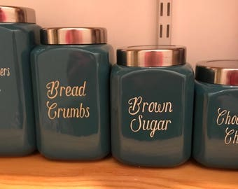 Custom 4 piece canister set