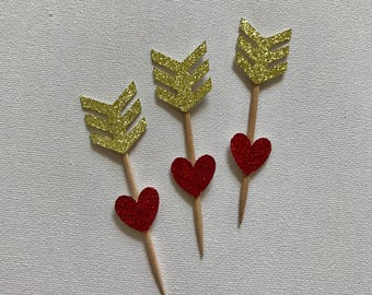 Valentine cupcake toppers 12ct