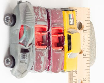 Matchbox like Metal Cars, Set of 4, vintage toy cars