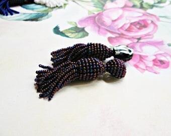 purple color/oscar de la renta/Short-tassel/handmade clip