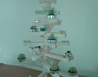 Decoration Christmas trees from recycled wood handmade