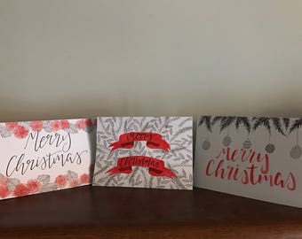 Christmas cards (x3) (comes with envelope)