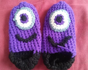 Purple Minion Slippers