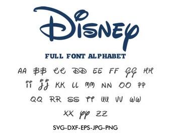 Disney font SVG, Disney svg, Disney alphabet svg, silhouette font EPS png jpg files. Disney font svg dxf for Silhouette Cameo or Cricut