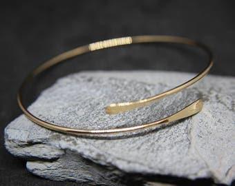 Bangle bracelet Silver or gold shiny plain and elegant